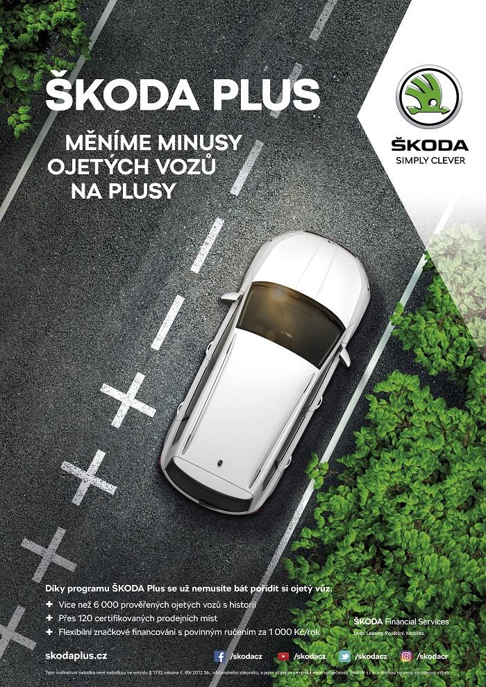 Klíčový vizuál ke kampani Škoda Plus