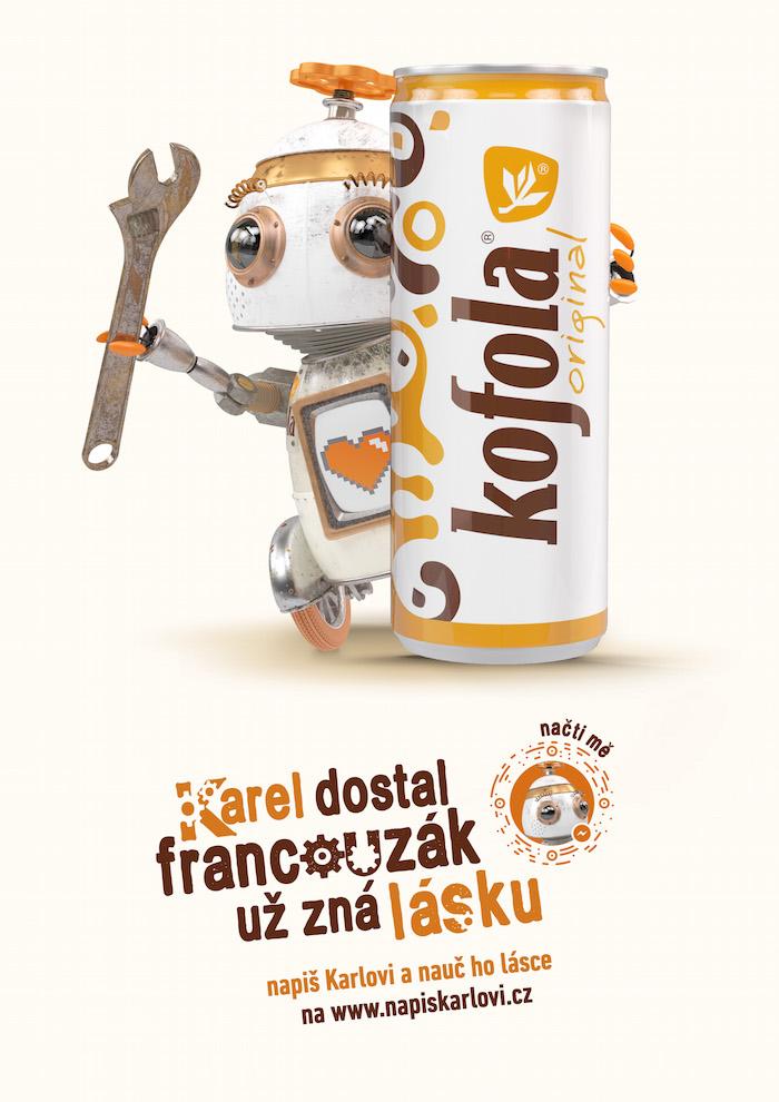 Klíčový vizuál kampaně značky Kofola