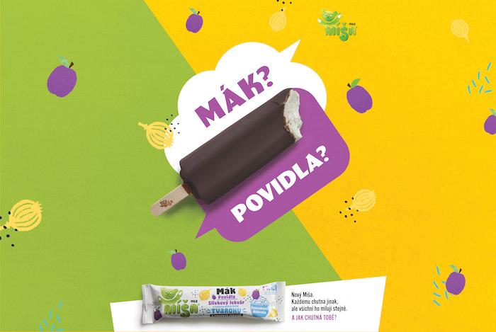 Klíčový vizuál ke kampani značky Míša, zdroj: Unilever