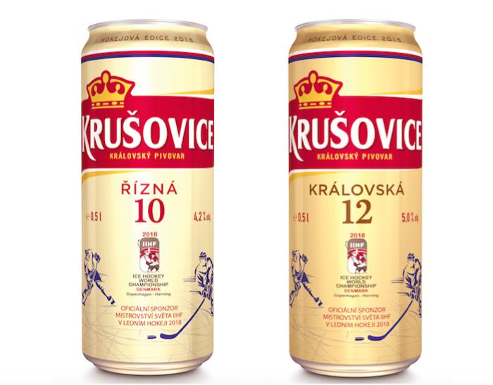 Limitovaná hokejová edice piva Krušovice