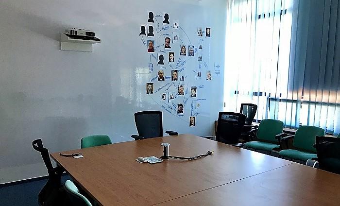 Zasedací místnost newsroomu Ringier Axel Springer