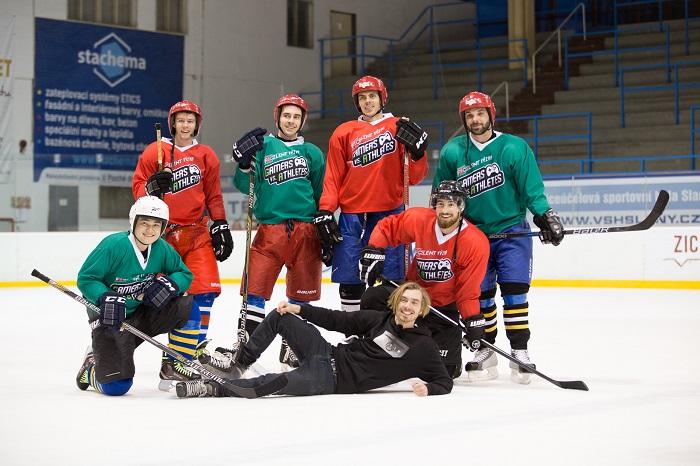Pivo Excelent vyzvalo sportovce i gamery na ledovou plochu, foto: Plzeňský Prazdroj