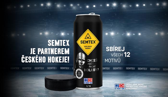 Semtex k hokejovému šampionátu uvedl limitovanou edici plechovek, foto: Kofola ČS