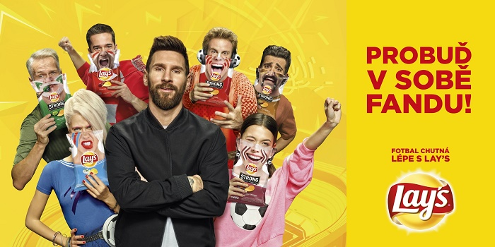 Klíčový vizuál fotbalové kampaně značky Lay's, zdroj: PepsiCo