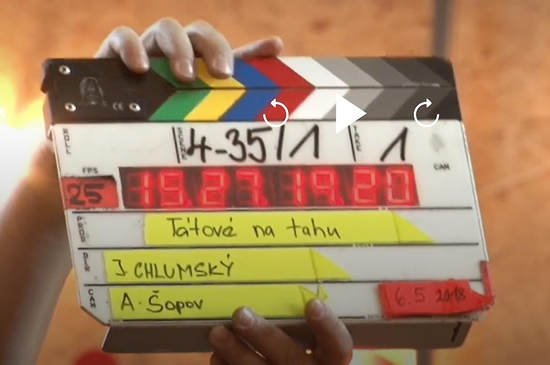 Natáčení nového seriálu, foto: repro vysílání TV Prima