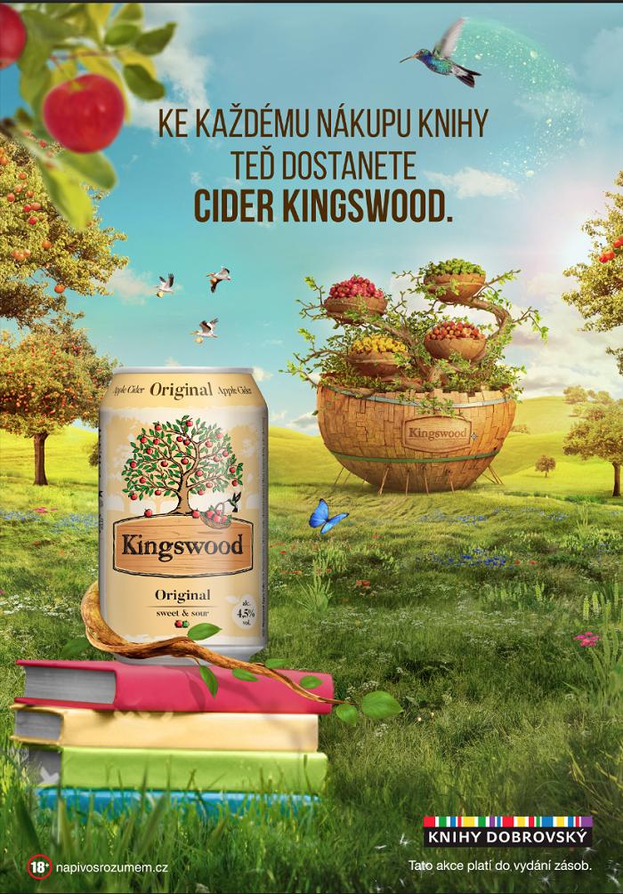 Plakát ke samplingu značky Kingswood v knihkupectví Dobrovský, zdroj: Plzeňský Prazdroj