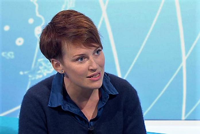 Pavla Holcová ve studiu České televize