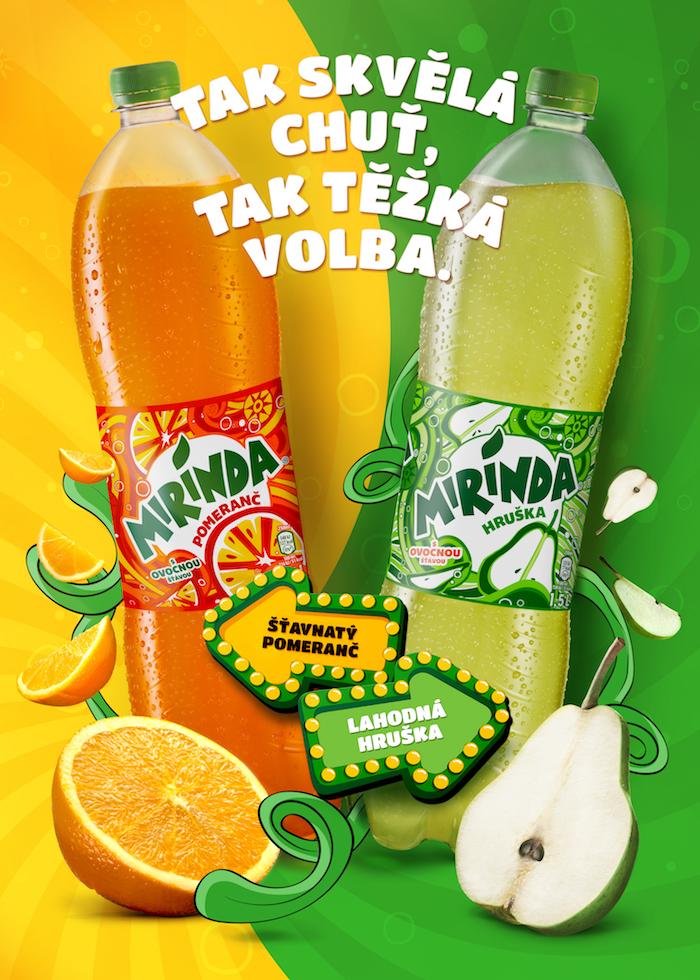 Klíčový vizuál značky Mirinda, zdroj: PepsiCo