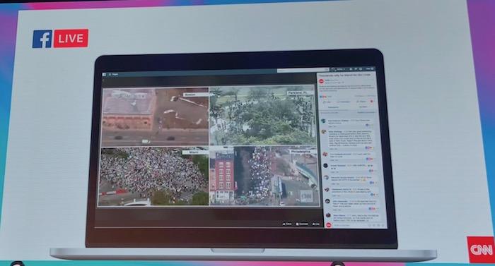 Formát živého videa na FB CNN, foto: MediaGuru.cz