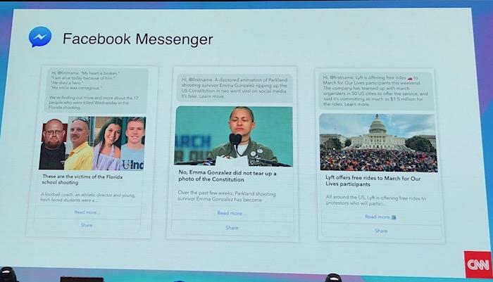 Ukázka komunikace CNN na FB Messengeru, foto: MediaGuru.cz