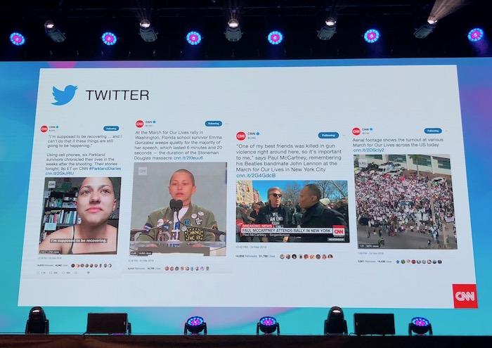 Ukázka zpravodajství CNN na Twitteru, foto: MediaGuru.cz