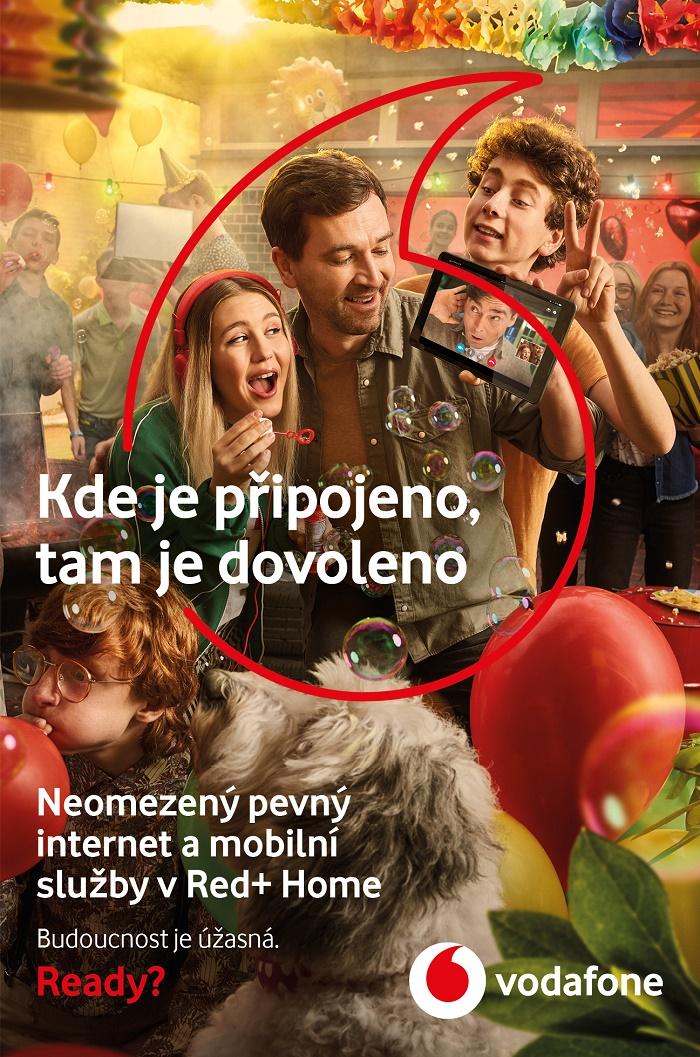 Klíčový vizuál ke květnové kampani Vodafone