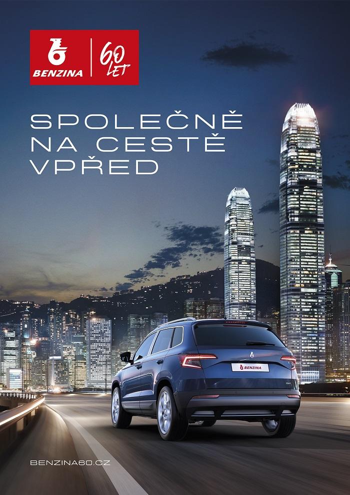 Klíčový vizuál Benziny k 60. výročí od založení, zdroj: Unipetrol