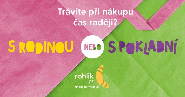 Klíčový vizuál v kampani Rohlik.cz