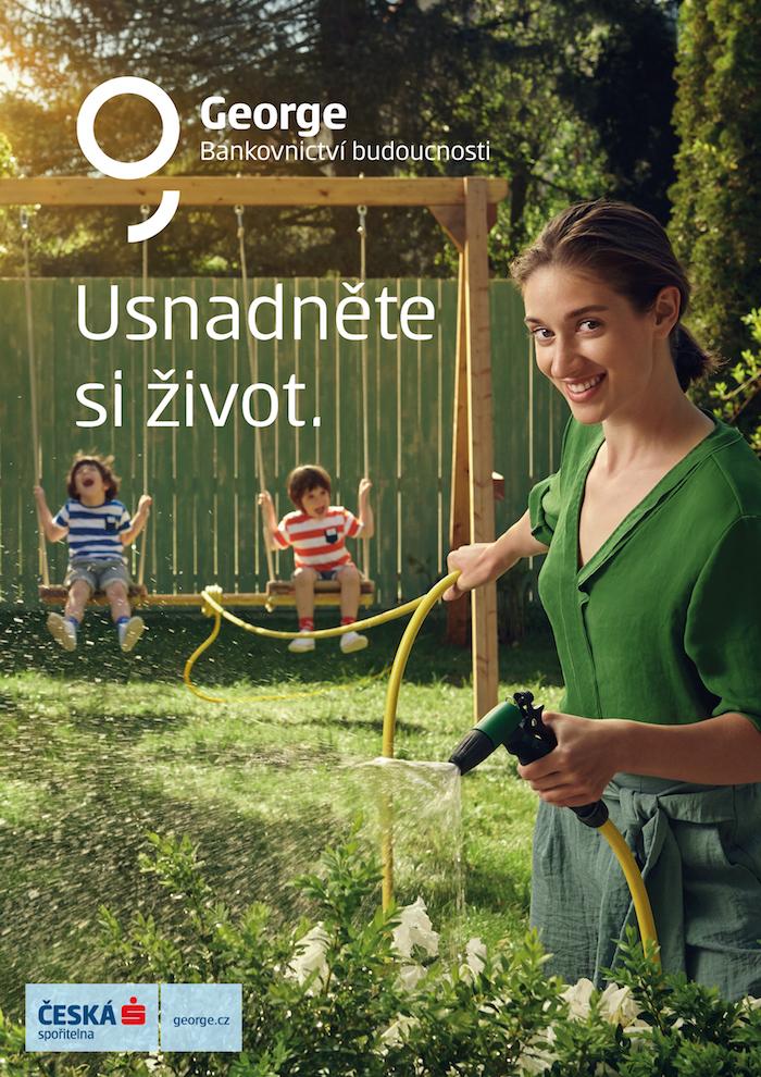 Klíčový vizuál ke kampani na George, zdroj: Česká spořitelna