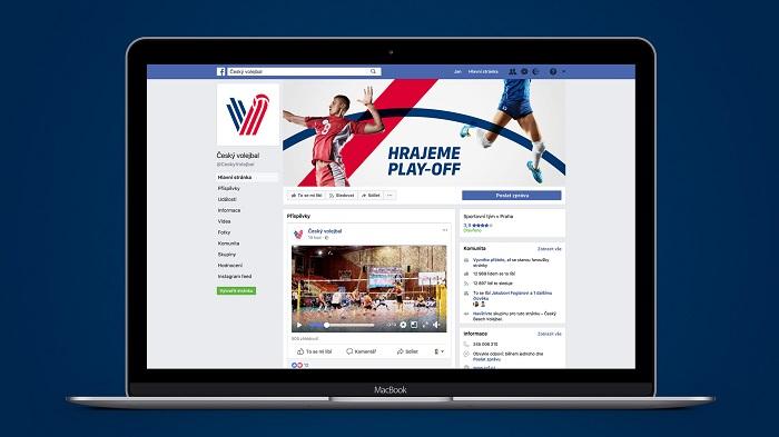 Aplikace nové vizuální identity Českého volejbalu na Facebooku