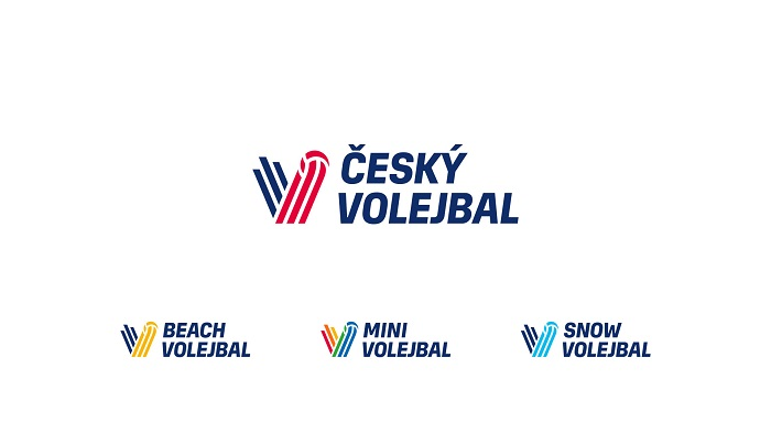 Barevné variace značky Český volejbal