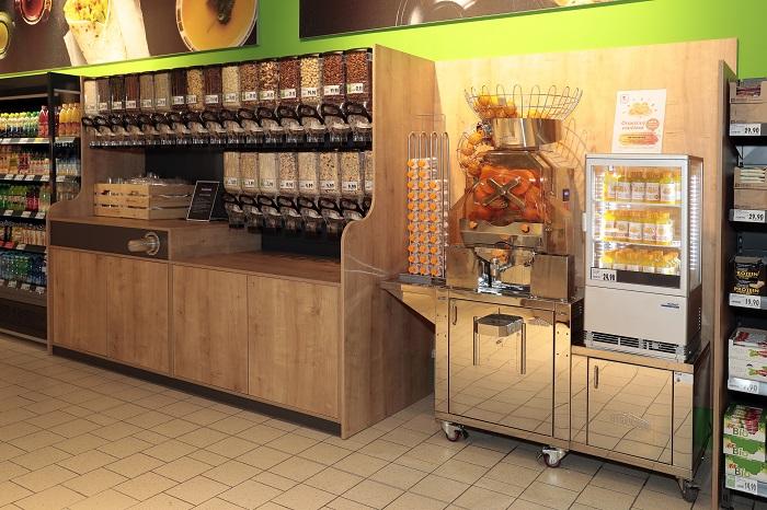 Kaufland na Vypichu nabídne i možnost namíchat si vlastní müsli, foto: Kaufland.