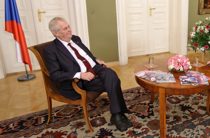 Miloš Zeman v pořadu TV Barrandov, foto: TV Barrandov
