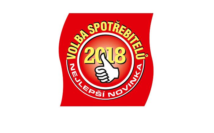 Logo programu Volba spotřebitelů - Nejlepší novinka 2018
