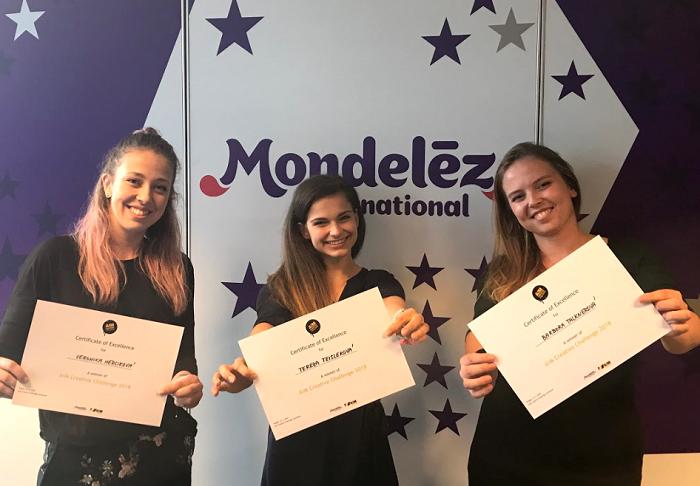 Vítězky soutěže A!M Creative Challenge (zleva): Veronika Herciková, Tereza Teislerová a Barbora Talknerová, foto: A!M