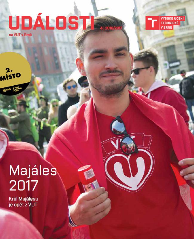 Zlaté ocenění získal B2E časopis Události na VUT v Brně (zadavatel i zhotovitel: VUT v Brně).