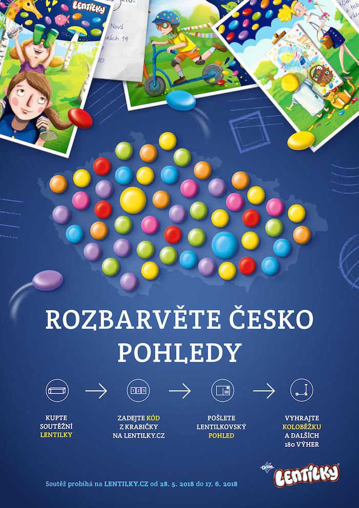 Klíčový vizuál ke kampani značky Lentilky, zdroj: Nestlé