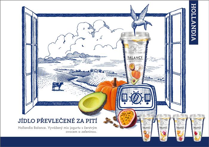 Klíčový vizuál kampaně Hollandia Balance, zdroj: Hollandia Karlovy Vary
