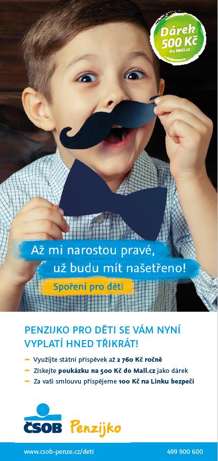 Klíčový vizuál kampaně na Penzijko pro děti, zdroj: ČSOB
