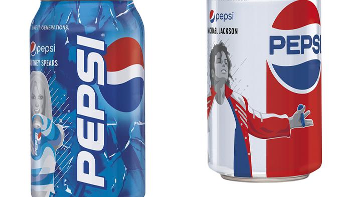 Limitovaná edice Pepsi s Britney Spears a Michaelem Jacksonem, zdroj: PepsiCo