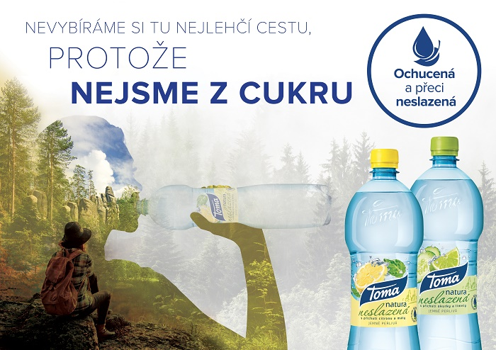 Klíčový vizuál ke kampani Toma Natura Neslazená, zdroj: PepsiCo