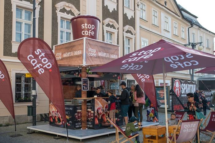 Mobilní kavárna Stop Cafe, foto: Benzina