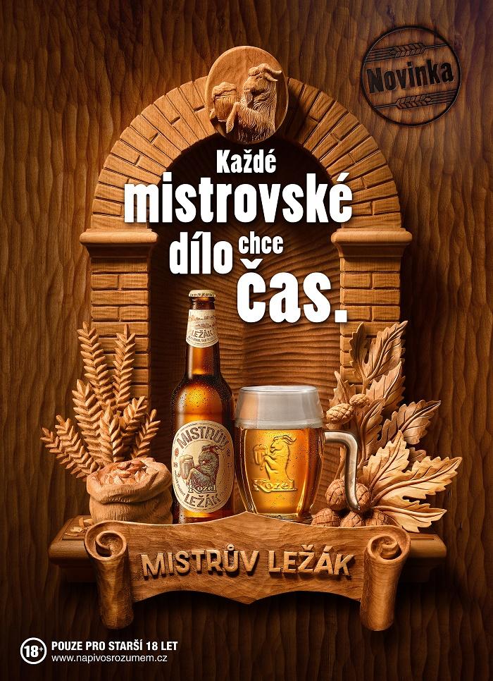 Klíčový vizuál ke kampani Kozel Mistrův ležák, foto: Plzeňský Prazdroj
