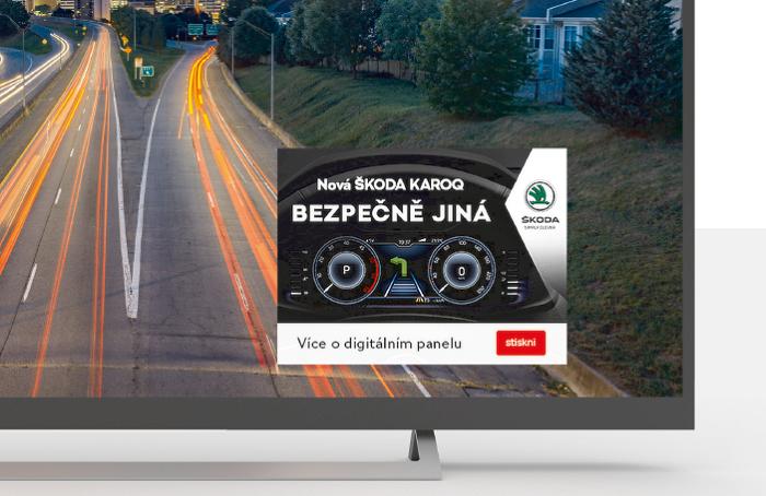Formát Push 2 Play využitý v HbbTV kampani Škoda Karoq
