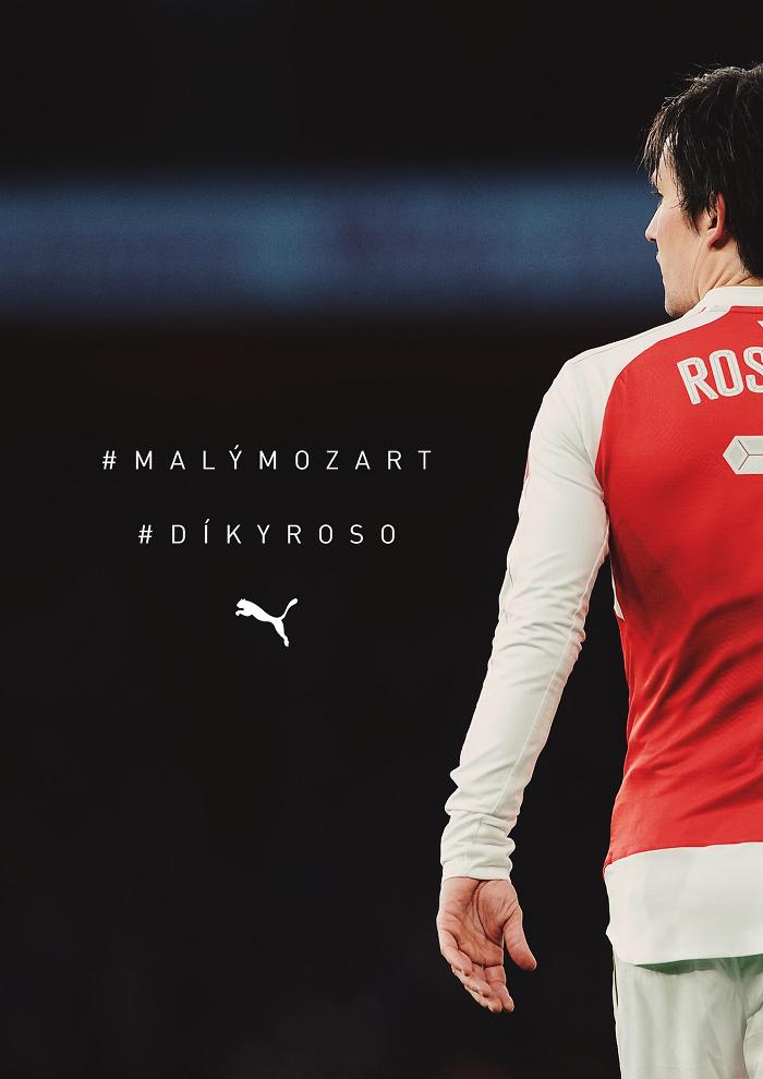 Klíčový vizuál ke kampani #DíkyRoso od značky Puma