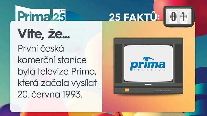 Prima 25 let vysílání