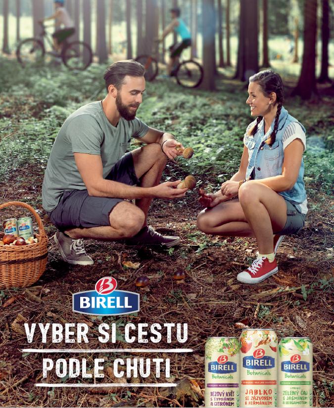 Ukázka jednoho z klíčových vizuálů nové kampaně značky Birell, zdroj: Plzeňský Prazdroj
