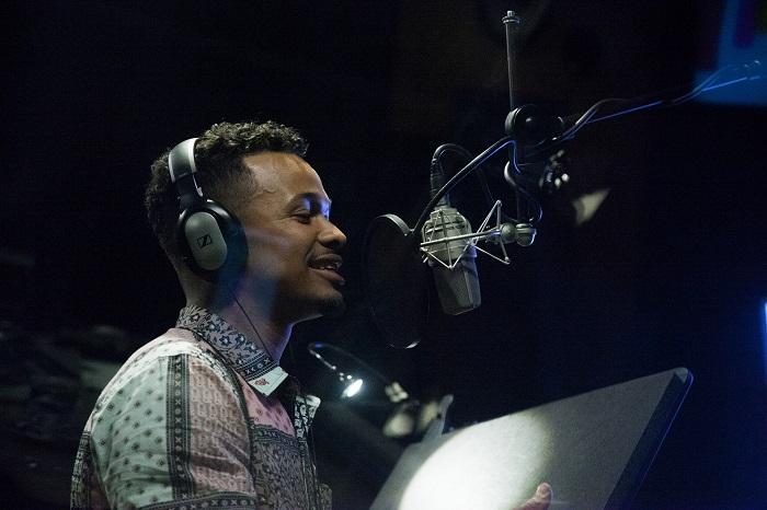 Ben Cristovao při nahrávání písně pro značku Oreo, foto: David Horák
