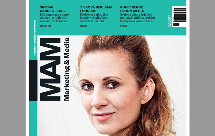 Titulní strana Marketing & Media, 25.6. 2018