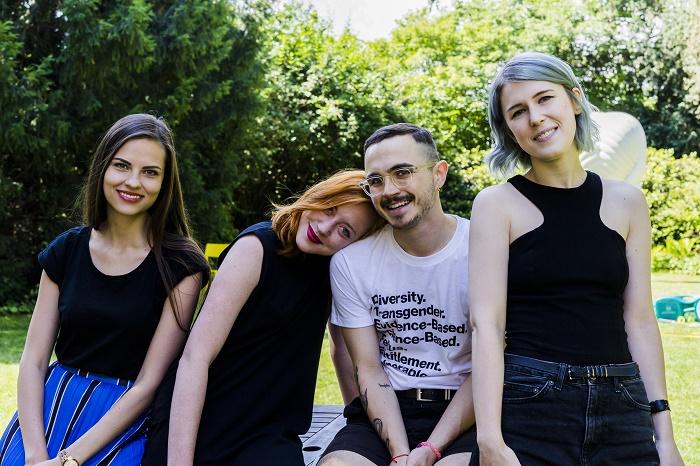 Do agentury Story TLRS přichází (zleva): Adéla Marešová, Martina Houlíková, Šimon Novák a Nikola Světlíková, foto: Story TLRS.