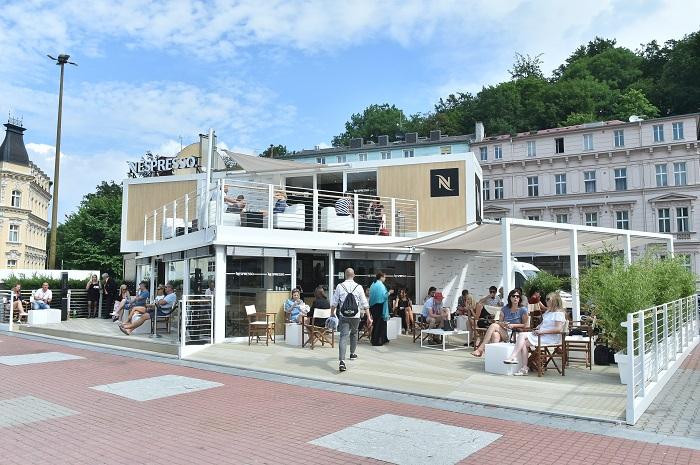 Pohled na Nespresso Café u hotelu Thermal, foto: Nestlé
