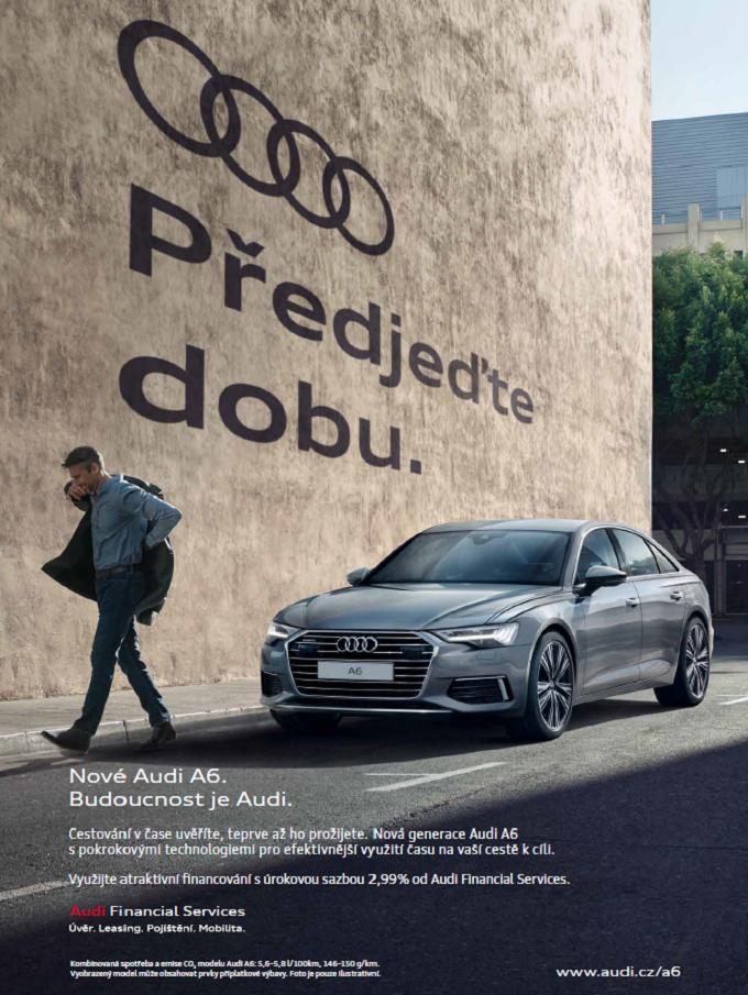 Klíčový vizuál k Audi A6, zdroj: Porsche ČR