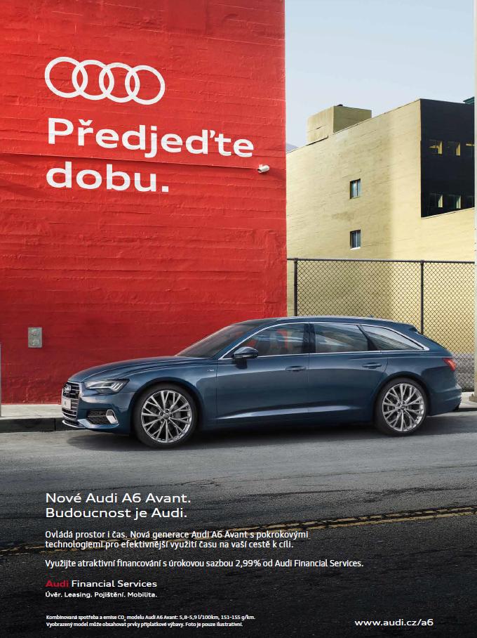 Klíčový vizuál k Audi A6 Avant, zdroj: Porsche ČR
