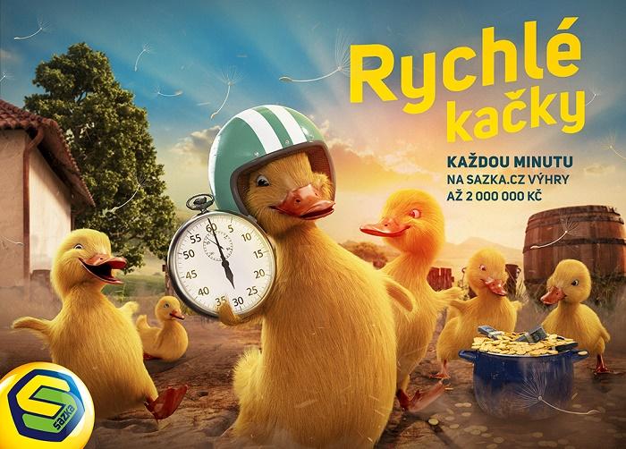 Klíčový vizuál k nové online loterii Rychlé kačky, zdroj: Sazka