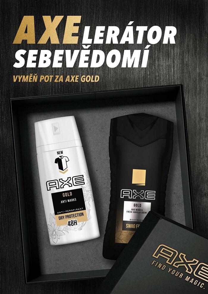Klíčový vizuál k nové řadě Axe Gold, zdroj: Unilever