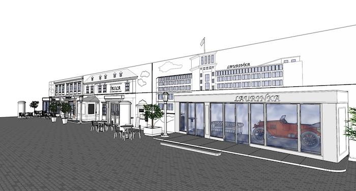 V dobových kulisách se bude nacházet také obecná škola, zdroj: Mediapark.