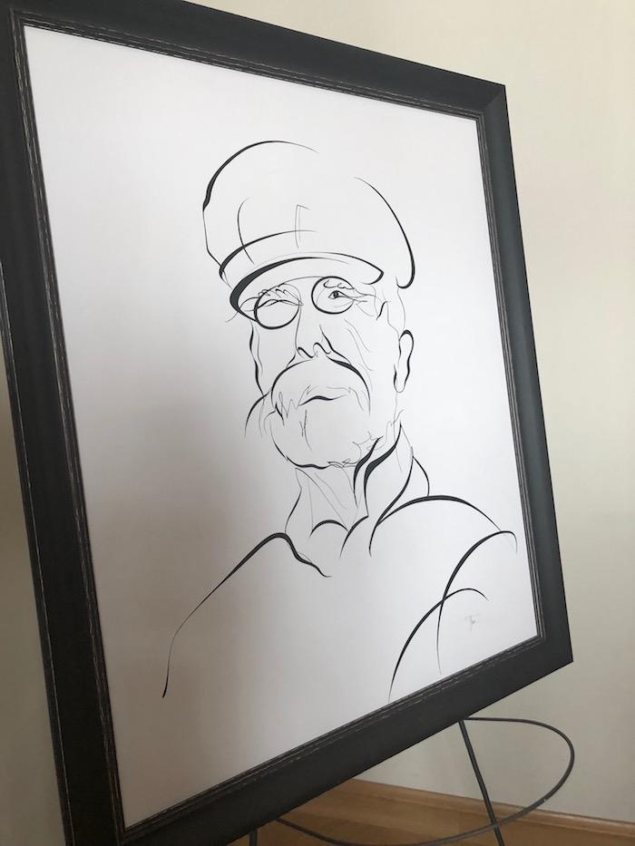 Portrét T. G. M., který bude provázet celou roadshow, foto: MediaGuru.cz