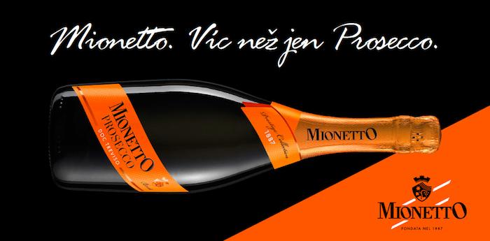 Venkovní reklama značky Mionetto, zdroj: Bohemia Sekt