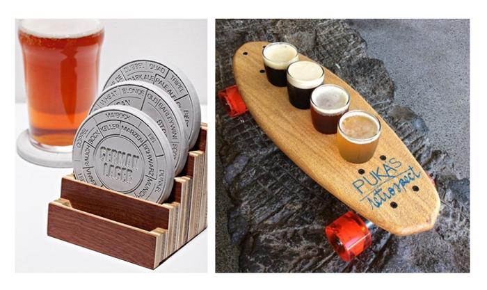 Inovaci je možné dostat i do pivních podtácků či do způsobu servírování nápojů, foto: Pinterest.