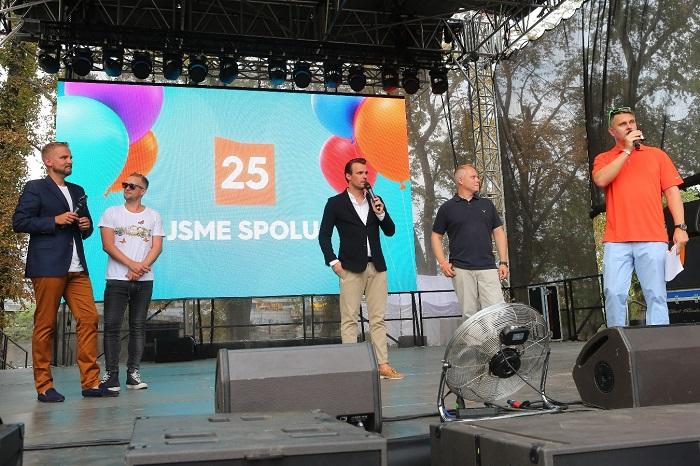Zprava: Marek Singer, Roman Mrázek, Leoš Mareš a Libor Bouček, foto: FTV Prima